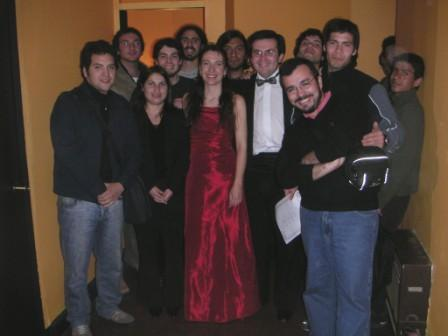 With students of Ernesto Quezada in Chile - 2005